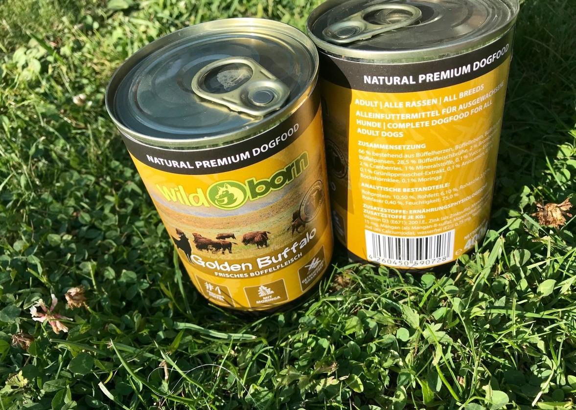 """Wildborn Golden Buffalo - Getreidefreies Premium Hundefutter mit frischem Büffel, Brombeeren, Cranberries und Moringa Olifera """"Baum des Lebens"""""""